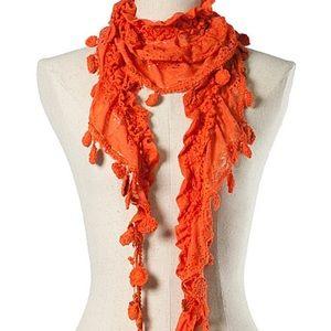 Ryu Lace & Crochet Boho Style Scarf